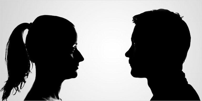 силуэт мужчина и женщина